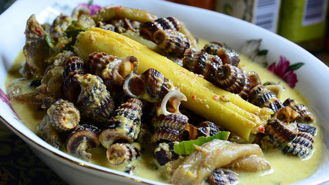 Snail Curry (source : traveltodayindonesia.com)