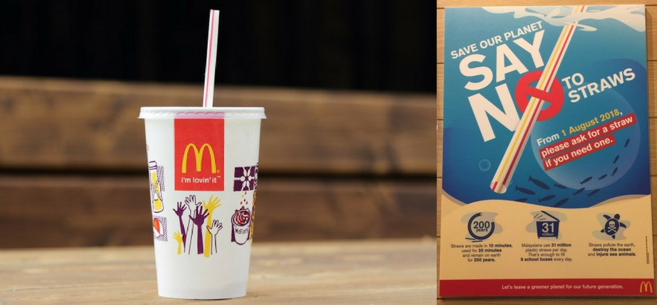 McDonalds Say No to Plastic program (source : TallyPress)