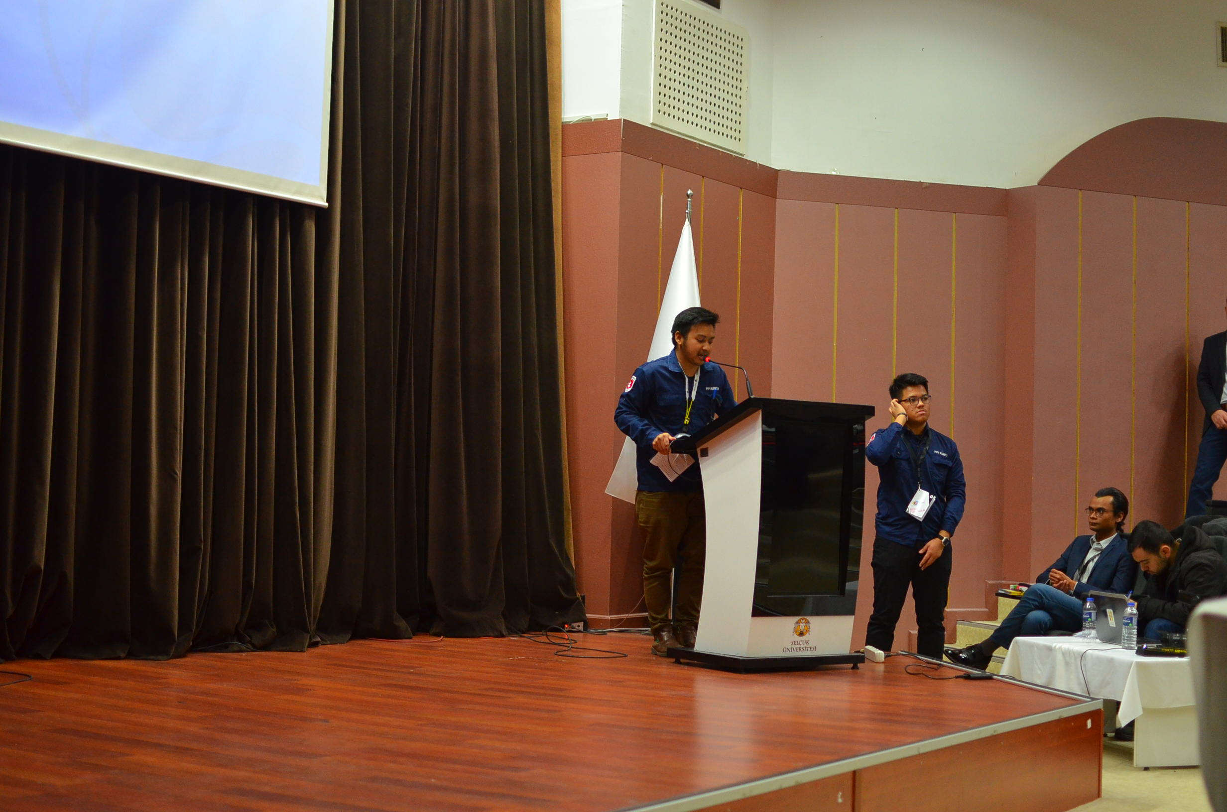 Chairman of Event, Adli Hazmi giving welcoming speech