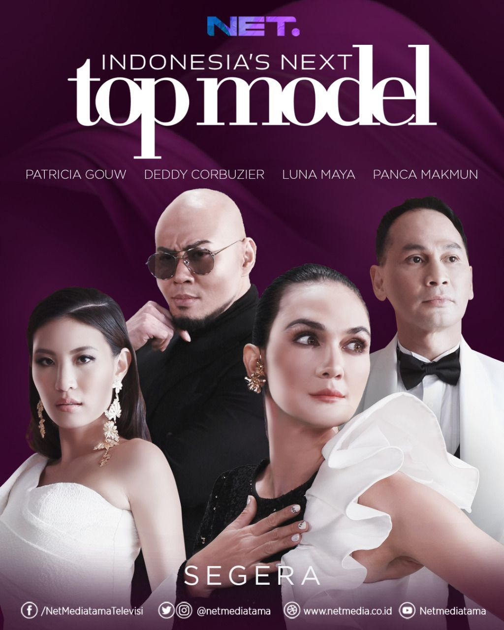 Indonesia's Next Top Model First Season Judges and Mentor / @netmediatama on Twitter
