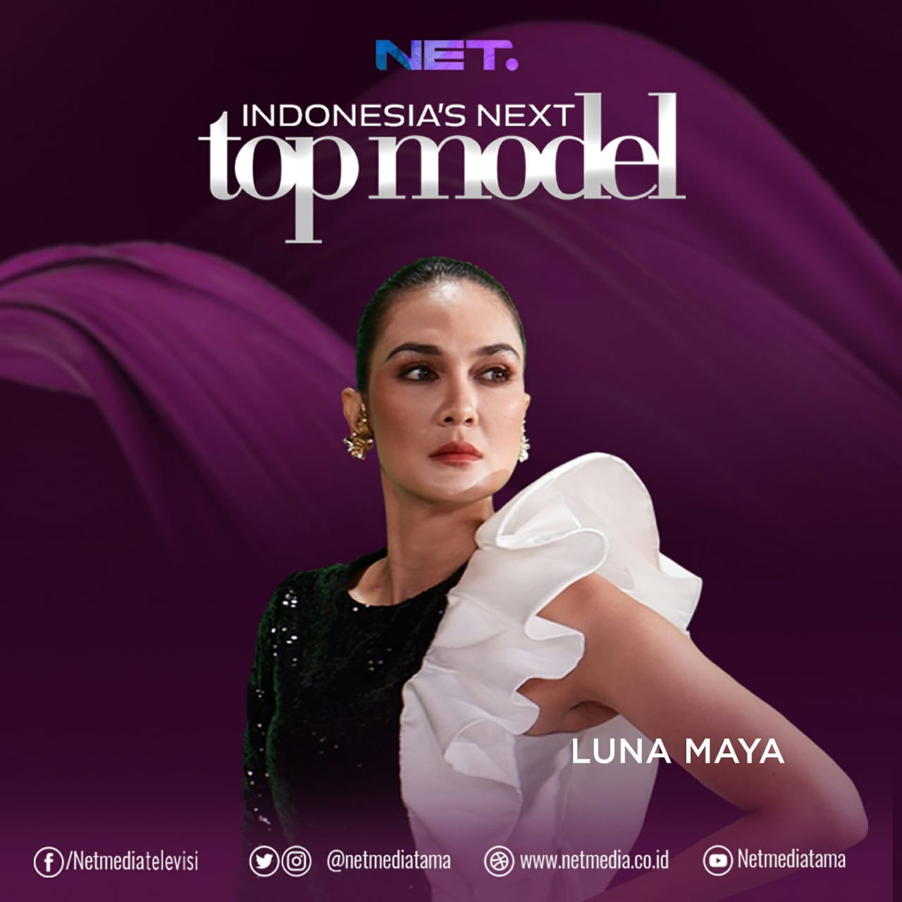 Luna Maya the Judge of Indonesia's Next Top Model / @intm_nettv on Instagram
