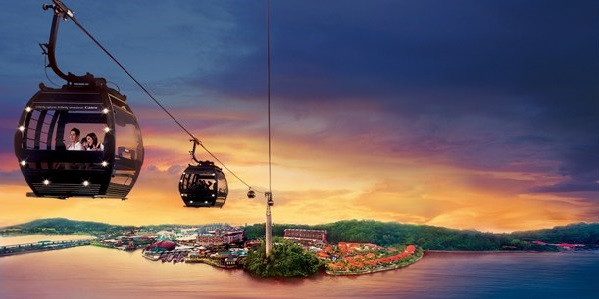 Sunset from mount Faber can be enjoy in Cable car / https://www.weekendgowhere.sg