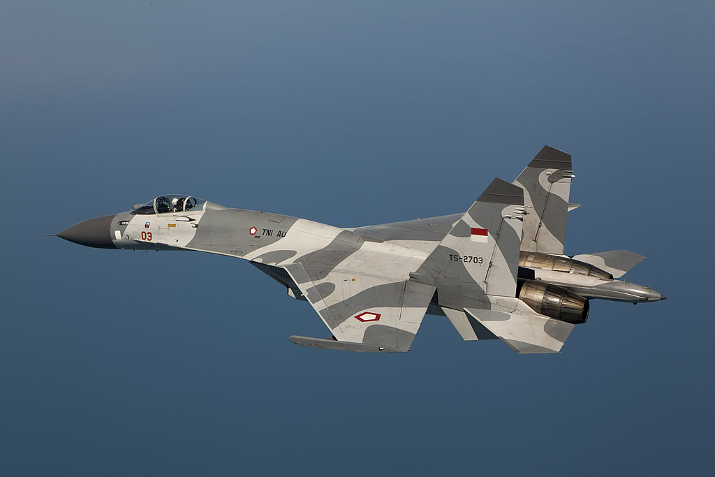 TNI-AU Su-27SK | http://www.defenseindustrydaily.com