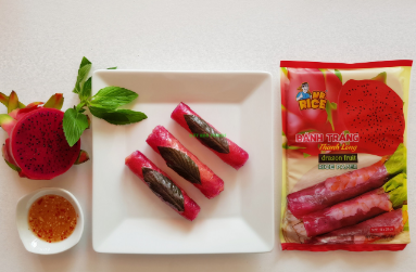 These rice paper sheets are made with dragon fruit. Image: Duy Anh Foods Import Export Co., Ltd
