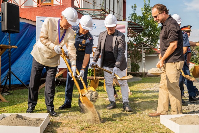 US Ambassador to the Philippines Sung Y. Kim and Philippine Police Chief General Oscar Albayalde lead the groundbreaking of a new state-of-the-art Regional Counterterrorism Training Center at the PNPA Academy in Silang, Cavite. Image: US EMBASSY IN THE PHILIPPINES / MANILA BULLETIN