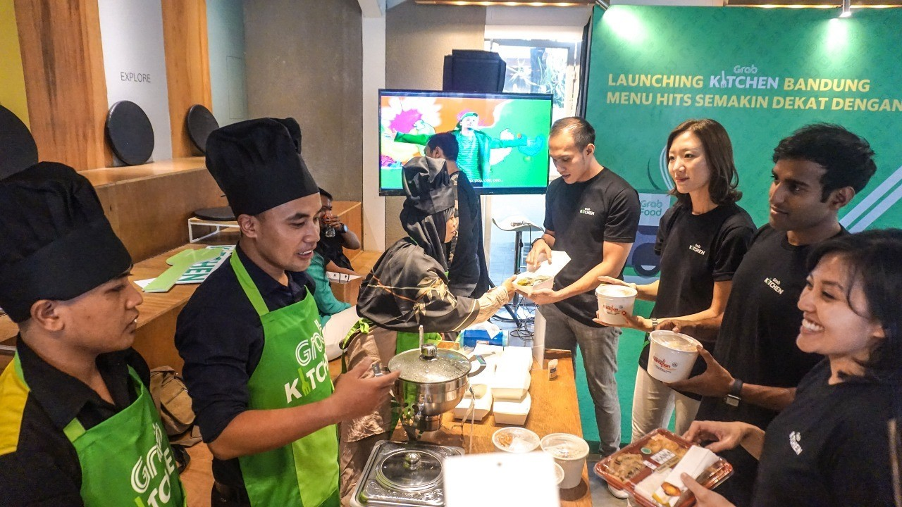 The launch of GrabKitchen in The Jakarta Post. Image: The Jakarta Post