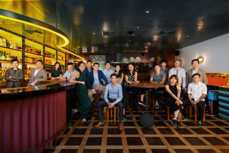 The team at Singapore's Jigger & Pony, named the top bar in Asia of 2020 by Asia's 50 Best Bars, an industry bar ranking. Image: Asia's 50 Best Bars