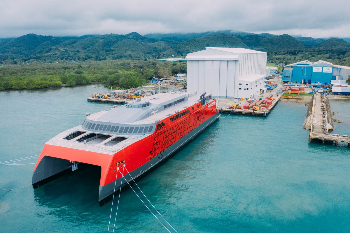 Austal Philippines has successfully launched Hull 419. Image: Austal.com