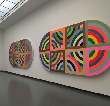 Installation view of Tracking Frank Stella. Image: Rebecca Uchill