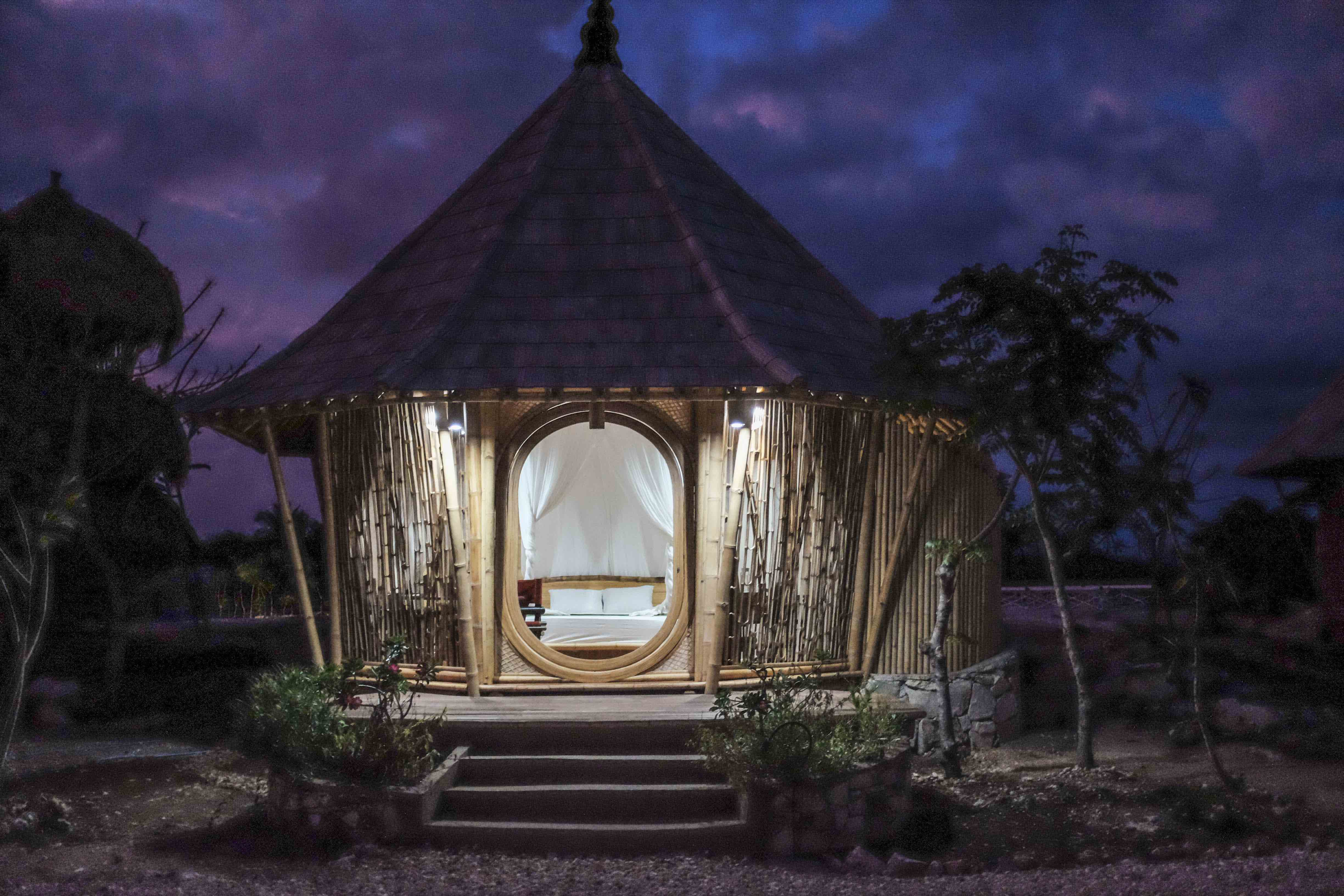 Bamboo guest pavilion at Sumba Hospitality Foundation. Image: Our Better World