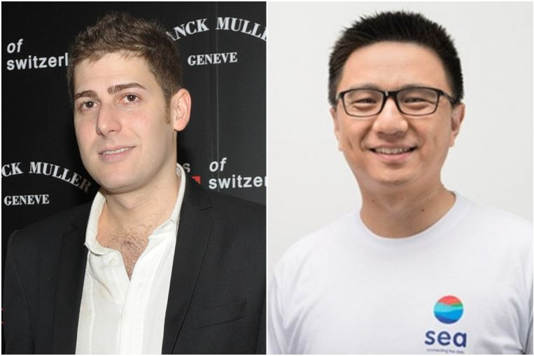 From Singapore, also on the list are Facebook co-founder and angel investor Eduardo Saverin (left) and Ye Gang, who co-founded online gaming and e-commerce firm Sea. Image: ST File, Seagroup