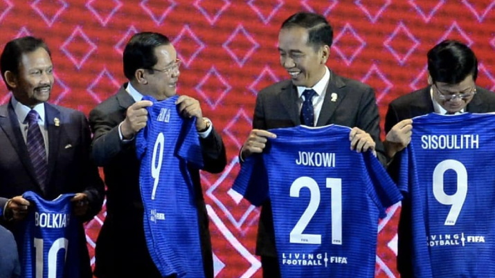 President Joko Widodo was given number 21 because Indonesia has been official announced as the host of the 2021 Under-20 World Cup. Image: Biro Kepresidenan