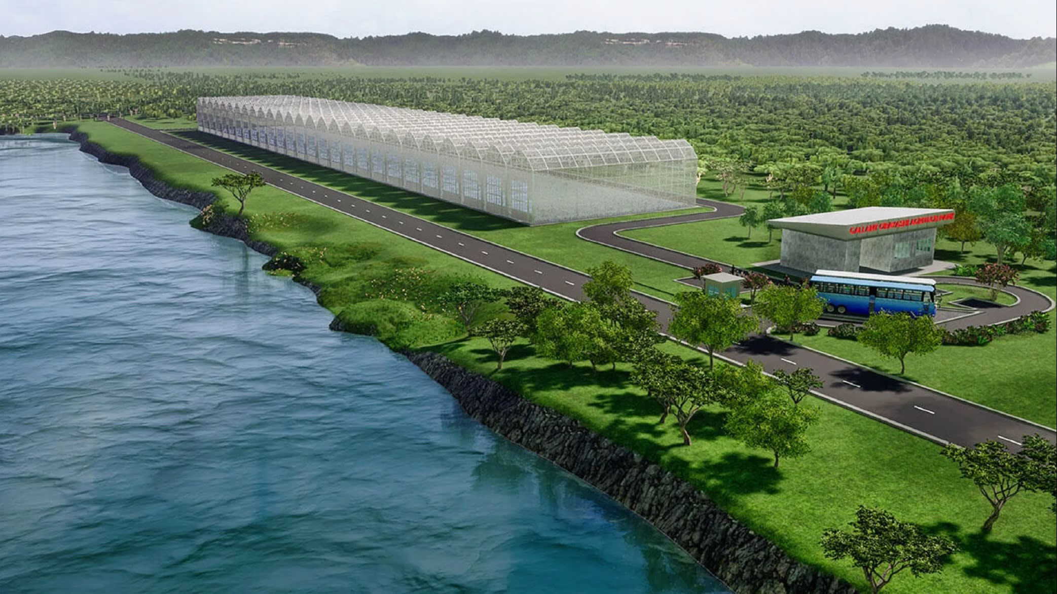 An image of the vegetable facility planned for northern Indonesia. Image: Nikkei Asian Review