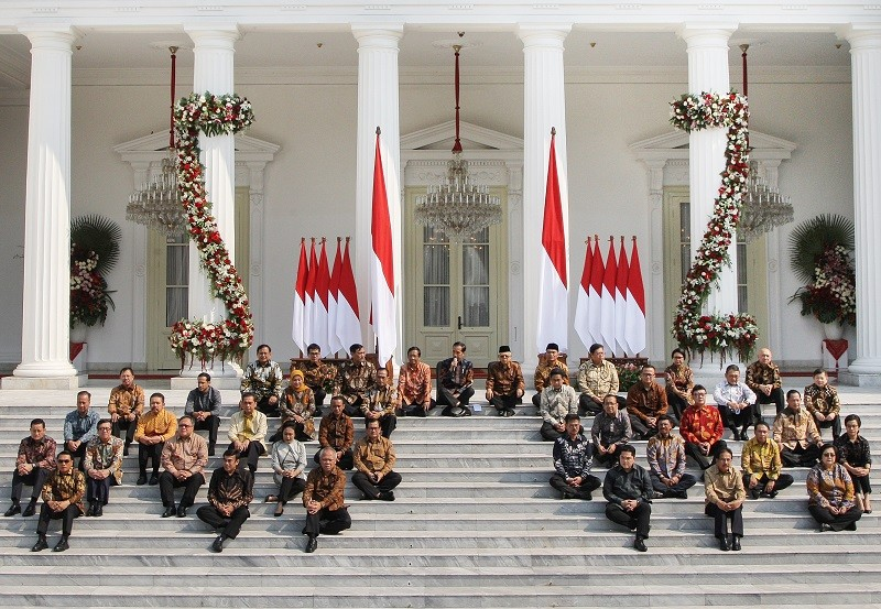 Indonesia Onward Cabinet after the announcement on Wednesday. Image: MI/Ramdani