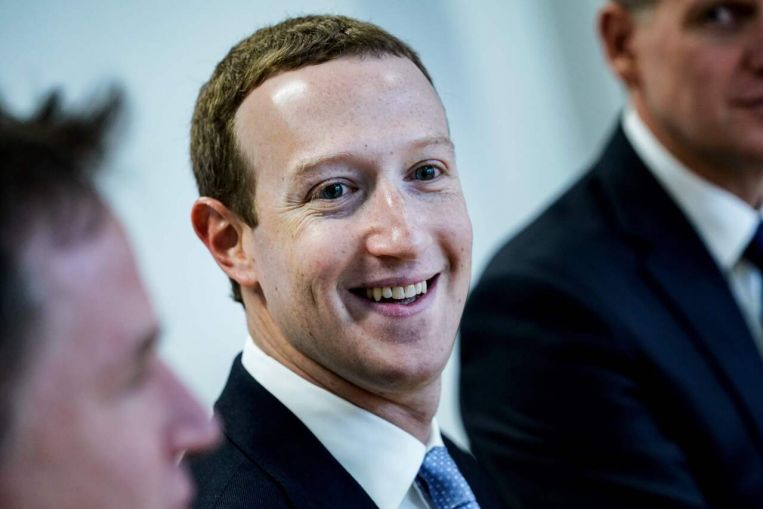 Facebook's founder and CEO Mark Zuckerberg tops the list with his wealth hitting US$84 billion. Image: AFP