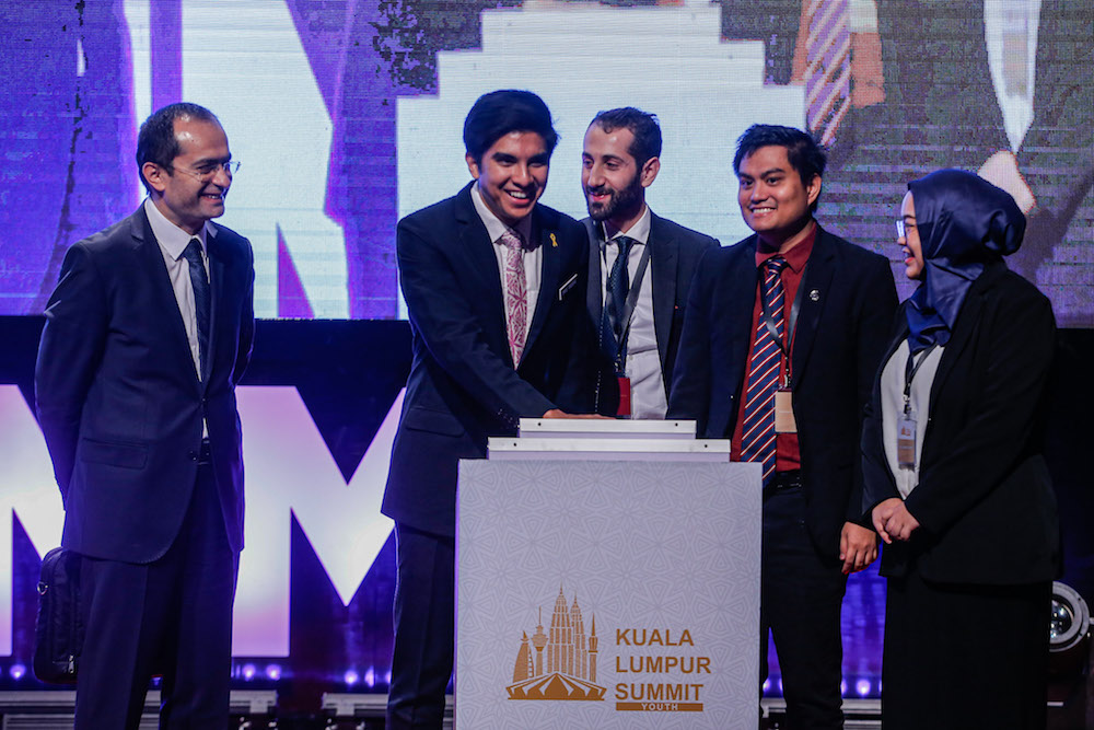 Youth and Sports Minister Syed Saddiq Abdul Rahman launches the KL Youth Summit 2019 at the Kuala Lumpur Convention Centre December 17, 2019. Image: Hari Anggara/Malay Mail