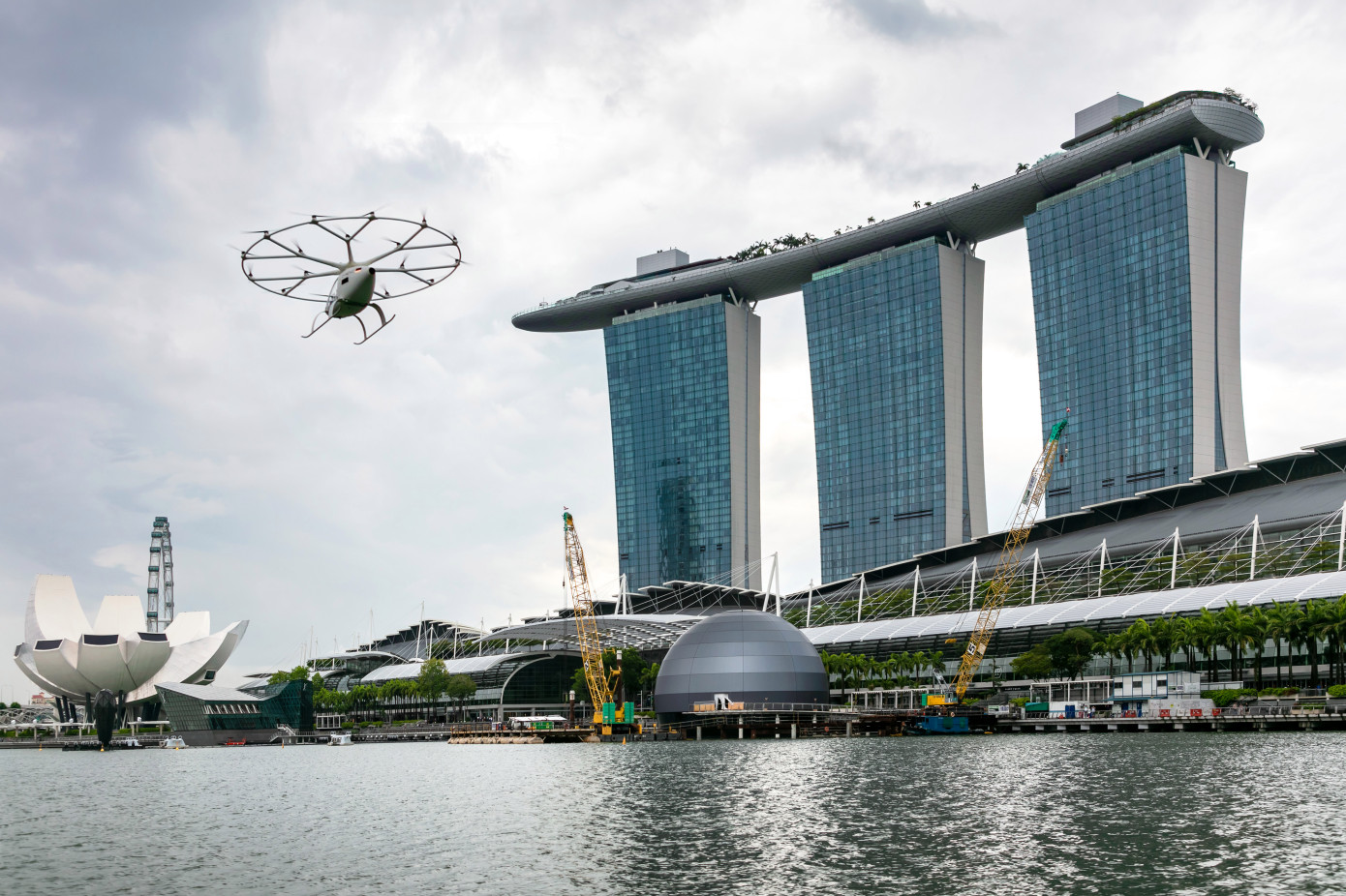 Air mobility startup Volocopter in Singapore. Image: TechCrunch