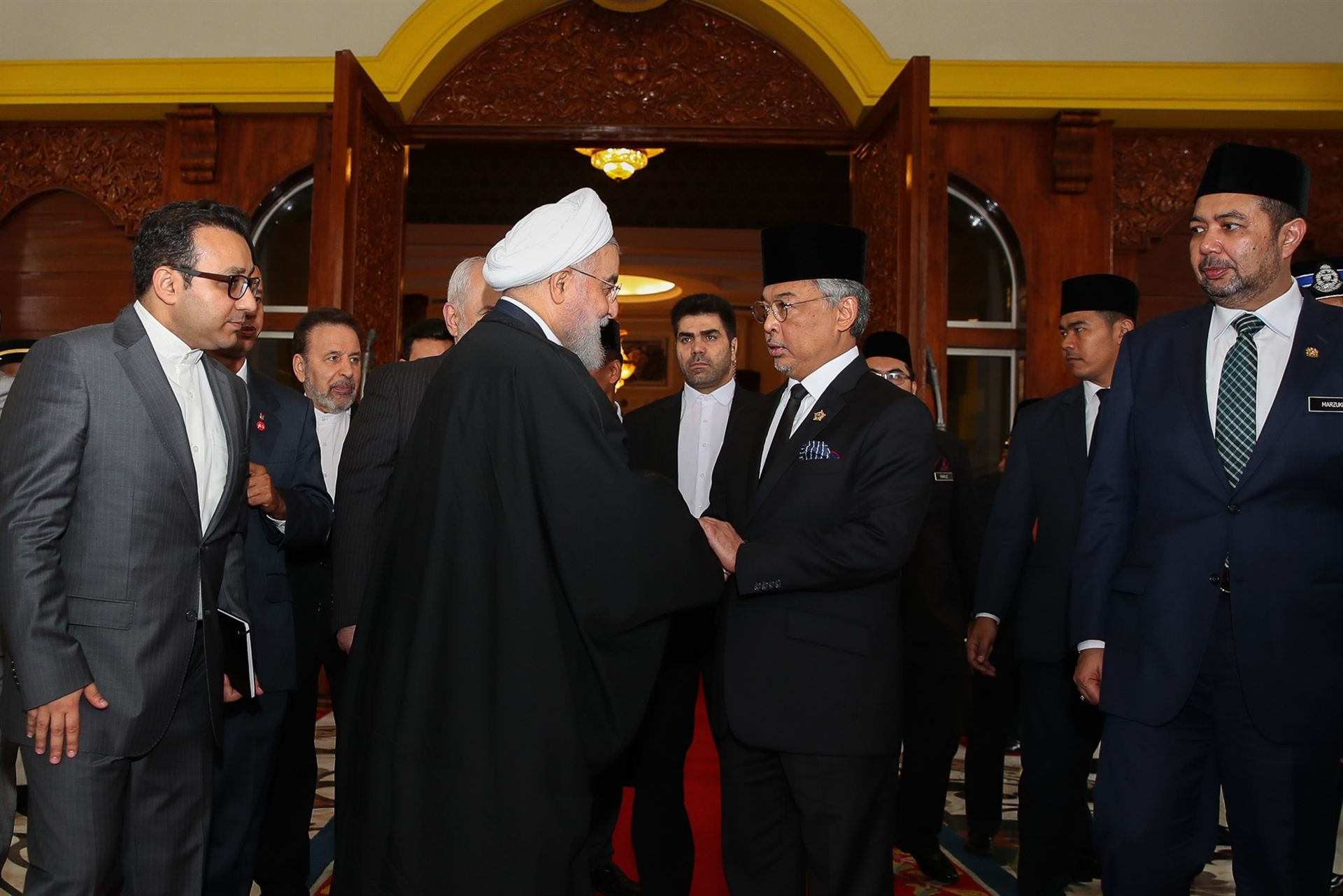 President of the Islamic Republic of Iran Hassan Rouhani of Iran in a meeting with King of Malaysia Sultan Abdullah on the sides of Kuala Lumpur Summit 2019. Image: Islamic Republic of Iran Ministry of Foreign Affairs https://en.mfa.ir