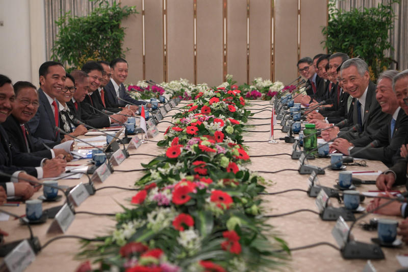 The retreat is a long-held tradition in which leaders and ministers meet informally each year to discuss ways to strengthen ties. Image: The Straits Times/Mark Cheong