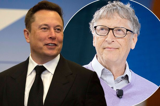 Elon Musk and Bill Gates, source: daily mirror